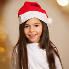 Unisex Santa Claus Christmas Hat Red And White Party Hats Holiday Costume Cap
