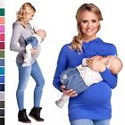 Happy Mama. Women's Nursing Hoodie Breastfeeding Sweatshirt Top Maternity. 272p