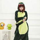 Winter Thick Adult Green Dinosaur Kigurumi Nonopnd Cartoon Sleepwear Loungewear