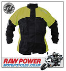Richa Rain Warrior Motorcycle Motorbike Jacket - Black/Fluo