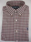 NWT Ralph Lauren Mens Sport Dress Shirt Button Down Classic Fit White Red Green