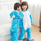 Blue Elephant Flannel Kids Soft Kigurumi Sleepwear Child Animal Winter Pajamas