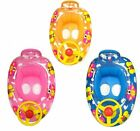 Butterfly Kids Inflatable Steering Wheel Swimming Trainer Seat Float Ring Car