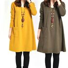 New Women's Casual V-neck Long Sleeve Dress Loose Pregnant Maternity Dresse new