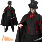 Jack the Ripper Costume Mens Victorian Halloween Vampire Fancy Dress Outfit New