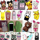 3D Cute Cartoon Soft Silicone Phone Case Back Cover For Apple iPhone 7/7 Plus