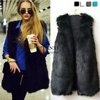 Womens Winter Warm Faux Fur Long Vest Jacket Coat Waistcoat NEW Fashion CB TXSU