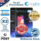 2X Nuglas Tempered Glass Screen Protector for Apple iPhone 8 7 6 S Plus X Lot