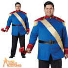 Adult Plus Size Storybook Prince Charming Costume Fairytale Mens Fancy Dress New