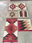 Vintage Navajo Rugs Lot of 5 Red, Brown, Cream, Black