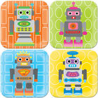 NEW French Bull Robot Plate Boy's by Until
