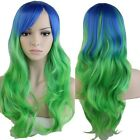 Long Layer Full Wigs Women Heat Safe Wavy Straight Halloween Cosplay Party Hair