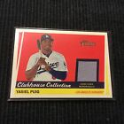 2016 TOPPS HERITAGE HIGH YASIEL PUIG *GAME USED JERSEY CARD*  DODGERS