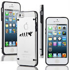 For iPhone SE 5 5s 6 6s 7 Plus Slim Clear TPU Hard Case Evolution Martial Arts