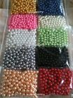 200pc 8mm U-Pick Color Pearl Beads No Hole For Confetti & Table Scatters/decors