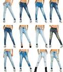 NEU Jeans Hose High Damen Waist Destroyed Skinny Jeanshose S-4XL