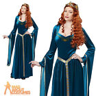 Adult Lady Guinevere Costume Medieval Queen Historical Fancy Dress Outfit New