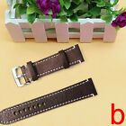 Leather Vintage Wrist Let Watch Band Strap Black Brown Width 18 20 22mm New