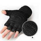 Weight lifting Gym Gloves Training Fitness Wrist Wrap Workout Exercise Sports RG