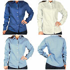 Womens Size LARGE Hartwell Corporate Wear Button Down Tailored Shirt