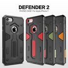 Tough Shockproof Hybrid Rugged Hard Case + Tempered Glass Film For iPhone 7 & 7+