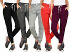 NEW WOMEN'S PLAIN FLEECE JOGGER DRAWSTRING TWO POCKET SWEAT