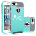 For iPhone X 5 6 6s 7 8 Plus Dual Shockproof Hard Case Inifinity Love Basketball