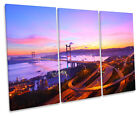 Tsing Ma Bridge Hong Kong CANVAS WALL ART TREBLE Box Frame Print