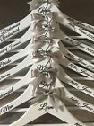 Personalised Wedding Dress Hangers Set of 6 - Bridal/Bridesmaid/Gift/Wooden/Prom