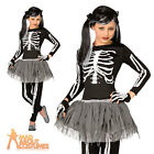 Child Skeleton Costume Girls Tutu Halloween Horror Fancy Dress Outfit New
