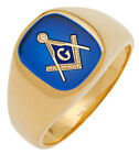 Customizable Open Back 10k or 14k Yellow or White Gold Masonic Freemason Ring