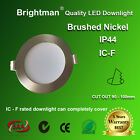 10W LED DOWNLIGHT KIT IC-F IP44 DIMMABLE 90MM CUTOUT NATURE / WARM WHITE SILVER