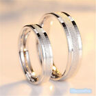 Women Men Crystal Stainless Steel Wedding Band Couples Engagement Ring Jewelry