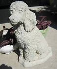 """CONCRETE POODLE STATUE OR USE AS A MONUMENT,  13.5"""" TALL"""