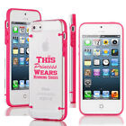 For iPhone Slim Clear TPU Hard Case Cover This Princess Wears Running Shoes