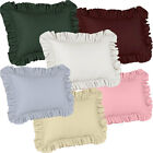 1000TC Egyptian Cotton Sateen Edge Ruffle 2 Pillow Shams Pic Color and Size