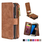 NEW 12 Card Slot Wallet Case Series with Zipper for Samsung Galaxy S7 edge