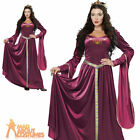 Adult Lady Guinevere Costume Historical Medieval Renaissance Fancy Dress New
