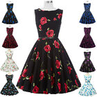 HOT Womens Swing Pinup 40s 50s Vintage Dress Prom Floral Party Housewife Pageant