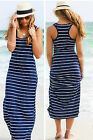 Women Sexy Bodycon Loose Boho Beach long Evening Party Vest Bandage Mini Dress