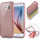 TPU Bling Silicone Glitter ShockProof Case Cover For Samsung Galaxy S6 S7 Edge