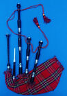 Great Highland Bagpipes Rosewood Black Color Silver Ferrules-Scottish Bagpipes