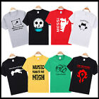 Men cotton many design personalized printed T-Shirt Crew Neck Short Sleeve tee