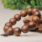 TM009-1pcs 18MM Round Natural Golden sandalwood hand strin Beaded Bracelets