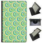 Colourful Green Blue Cream Patterns Universal Leather Case For ACER Tablets