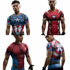 Superhero 3D Compression Marvel T-shirts Short/Long Sport Gym Top Cycling Jersey