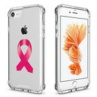For iPhone 6 7 Plus Clear Shockproof Case Breast Cancer Color Awareness Ribbon
