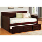Enitial Lab Wooden Daybed with Pull-Out Twin Trundle and Easy-Grip Handles