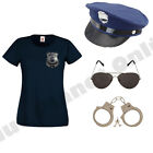 LADIES NEW YORK AMERICAN POLICE WOMAN COP FANCY DRESS COSTUME HEN PARTY OUTFIT