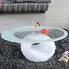 Glass Oval Coffee Table Contemporary Modern Design Living Room Furniture фото